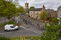Picture by SWpix.com 04/05/2018 - Cycling Asda Women's Tour de Yorkshire - Stage 2 Barnsley to Ilkley - The women's peloton makes it's way through the village of Barnburgh in South Yorkshire.