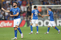 Patrick Cutrone of Italy \celebrates with team mates after scoring a goal<br /> Reggio Emilia 22-06-2019 Stadio Città del Tricolore <br /> Football UEFA Under 21 Championship Italy 2019<br /> Group Stage - Final Tournament Group A<br /> Belgium - Italy<br /> Photo Cesare Purini / Insidefoto