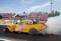 May 17, 2015; Commerce, GA, USA; NHRA funny car driver Del Worsham during the Southern Nationals at Atlanta Dragway. Mandatory Credit: Mark J. Rebilas-USA TODAY Sports