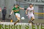 James O'Donoghue, Kerry in action against Ruairi Devlin Tyrone in the fourth round of the National Football league at Fitzgerald Stadium, Killarney on Sunday.