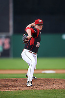 Batavia Muckdogs relief pitcher Trenton Hill (39) during a game against the West Virginia Black Bears on June 28, 2016 at Dwyer Stadium in Batavia, New York.  Batavia defeated West Virginia 3-1.  (Mike Janes/Four Seam Images)
