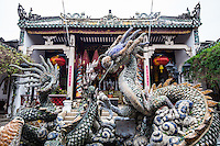 Quang Trieu Cantonese Assembly Hall,  is a favorite of all the historical buildings in Hoi An because of its unique architectural heritage and the crowd pleasing dragon fountain in its courtyard. The hall was built by the Cantonese merchants with different sections of the building shipped  in from China.