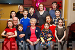 Theresa Foley from Miltown, seated front centre enjoying her birthday celebration with her grand children in the Brogue Inn on Friday night last. <br /> Seated l-r, John Foley, Sadhbh and Sean McSweeney, Theresa Foley, Aoife Spring, Niamh O&rsquo;Hare and Saoirse McSweeney. Standing l-r, Doireann Foley, Clare Jordan, Riain Foley, Oisin Spring, Louise Jordan, Cathal Spring and Conor O&rsquo;Hare.