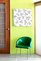 light green wall