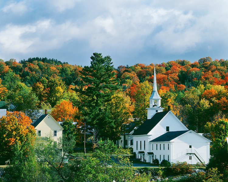 Fall scene in Groton, Vt