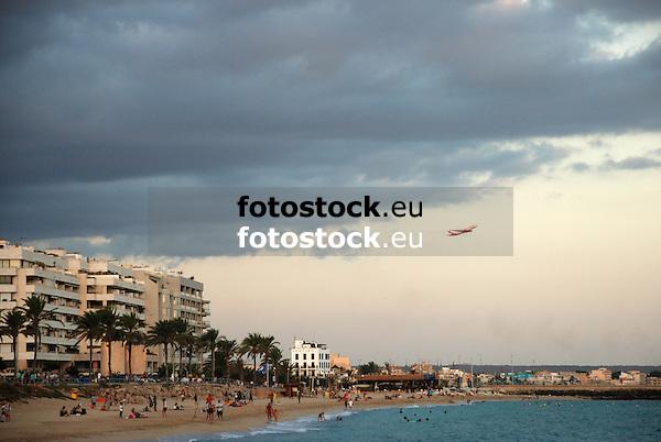 Beach of Can Pere Antoni in  Palma de Mallorca<br /> <br /> Playa de Can Pere Antoni de Palma de Mallorca<br /> <br /> Strand Can Pere Antoni in Palma de Mallorca