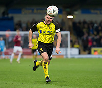 5th January 2020; Pirelli Stadium, Burton Upon Trent, Staffordshire, England; English FA Cup Football, Burton Albion versus Northampton Town; Jake Buxton of Burton Albion chasing down a loose ball - Strictly Editorial Use Only. No use with unauthorized audio, video, data, fixture lists, club/league logos or 'live' services. Online in-match use limited to 120 images, no video emulation. No use in betting, games or single club/league/player publications