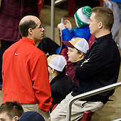 Artie Poitras, Bert Lenz (BC - Dir-Sports Medicine) - The Boston College Eagles defeated the visiting University of Massachusetts-Lowell River Hawks 5-3 (EN) on Saturday, January 22, 2011, at Conte Forum in Chestnut Hill, Massachusetts.