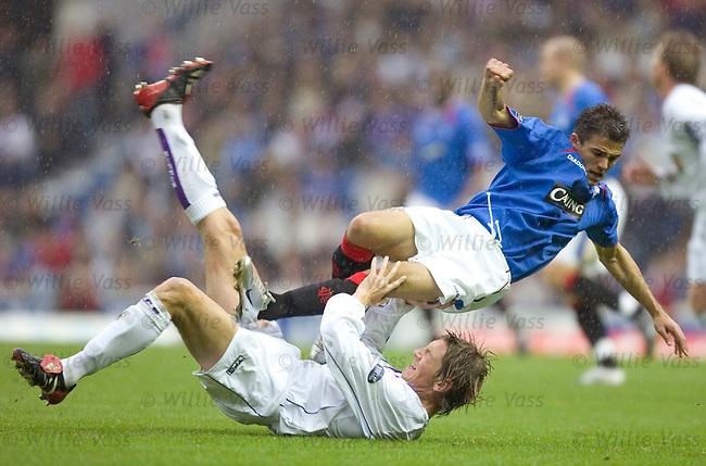 Nacho Novo, Rangers.David Lilley, Kilmarnock.stock season 2004-2005.pic willie vass