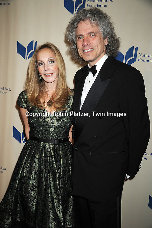 fiction judge Rebecca Goldstein and Steven Pinker..at The 2008 National Book Awards Dinner and Ceremony on November 19, 2008 at Cipriani's Wall Street in New York City. ....Robin Platzer, Twin Images