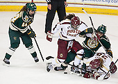 Victoria Andreakos (UVM - 44), Dana Trivigno (BC - 8), Casey Leveillee (UVM - 5), Kate Leary (BC - 28) - The Boston College Eagles defeated the visiting University of Vermont Catamounts 2-0 on Saturday, January 18, 2014, at Kelley Rink in Conte Forum in Chestnut Hill, Massachusetts.