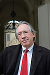 Ian McEwan, Booker-winning novelist, outside the Clarendon Building, before giving the Bodley Lecture and being awarded the Bodley Medal at the Sheldonian Theatre, during the FT Weekend Oxford Literary Festival, Oxford, UK. Thursday 27 March 2014.<br /> <br /> PHOTO COPYRIGHT Graham Harrison<br /> graham@grahamharrison.com<br /> <br /> Moral rights asserted.
