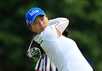 Jin Young Ko (USA) in action on the 9th during Round 4 of the HSBC Womens Champions 2018 at Sentosa Golf Club on the Sunday 4th March 2018.<br /> Picture:  Thos Caffrey / www.golffile.ie<br /> <br /> All photo usage must carry mandatory copyright credit (&copy; Golffile | Thos Caffrey)