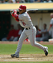 Maicer Izturis, of the Los Angeles Angels , during their game against the Oakland A's  on April 23, 2006 in Oakland...A's win 4-3..Rob Holt / SportPics