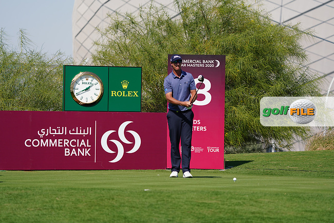 Nicolas Colsaerts (BEL) on the 18th during Round 1 of the Commercial Bank Qatar Masters 2020 at the Education City Golf Club, Doha, Qatar . 05/03/2020<br /> Picture: Golffile | Thos Caffrey<br /> <br /> <br /> All photo usage must carry mandatory copyright credit (© Golffile | Thos Caffrey)