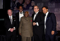 Kevin Payne, Ed Foster-Simeon, Desmond Tutu, Drew Carey, David Sutphen. The 2010 US Soccer Foundation Gala was held at City Center in Washington, DC.