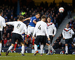 Lee McCulloch opens the scoring as he powers a header into the back of the net
