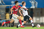 (R) Gianluca Gaudino of Bayern Munich being followed by Mei Fang of Guangzhou Evergrande during the Bayern Munich vs Guangzhou Evergrande as part of the Bayern Munich Asian Tour 2015  at the Tianhe Sport Centre on 23 July 2015 in Guangzhou, China. Photo by Aitor Alcalde / Power Sport Images