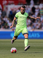 Nicolas Otamendi of Manchester City during the Swansea City FC v Manchester City Premier League game at the Liberty Stadium, Swansea, Wales, UK, Sunday 15 May 2016