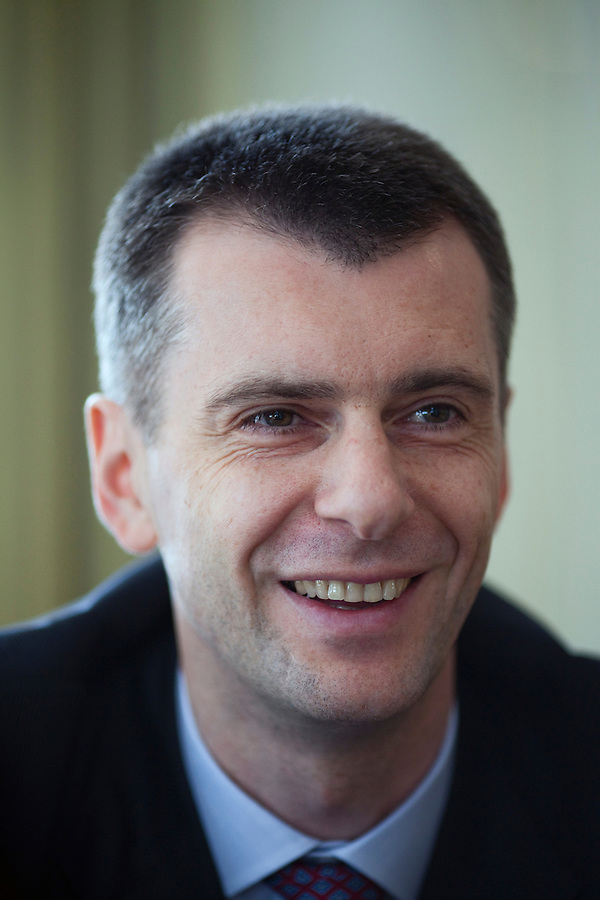 Skolkovo, Russia, 15/03/2011..Russian billionaire businessman Mikhail Prokhorov at his home in Skolkovo outside Moscow.