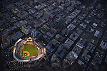 SAN DIEGO, CA - MARCH 30:  A general aerial view from the Goodyear Blimp during Opening Day Dodgers v Padres at Petco Park on March 30, 2014 in San Diego, California (Photo by Donald Miralle/Sports Illustrated)
