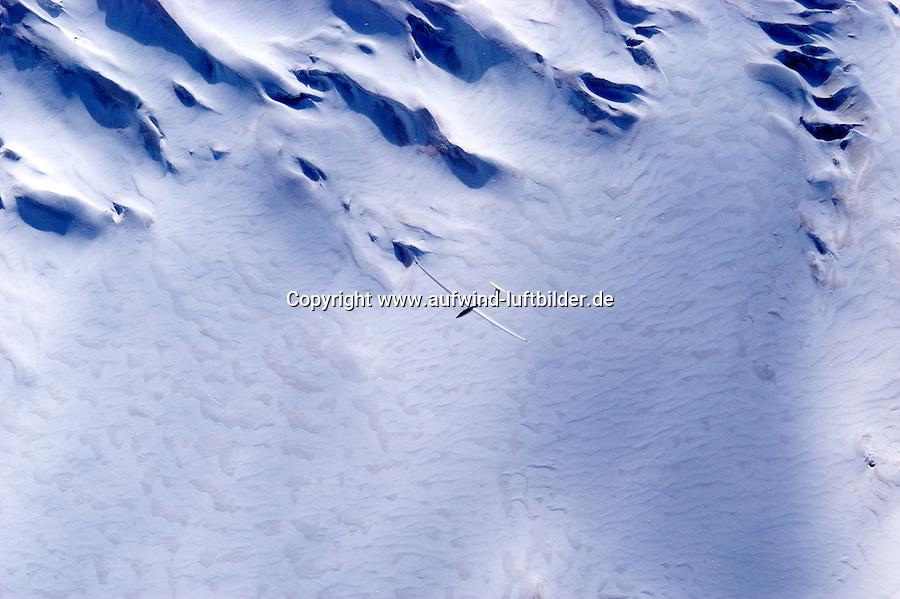 Segelflug, Segelflugzeug, Nimbus 4 DM, Berge, Schnee, Alpen, Frankreich,  Seealpen, Gletscher, Glacier Blanc
