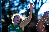 Action from the 2018 Netball NZ National Under-17 Championship final between Manawatu and Howick Pakuranga at Vautier Park in Palmerston North, New Zealand on Thursday, 19 July 2018. Photo: Dave Lintott / lintottphoto.co.nz