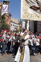 Bruderschaft Paso Blanco bei  der Semana Santa (Karwoche) in Lorca,  Provinz Murcia, Spanien, Europa