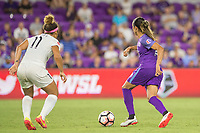 Orlando, FL - Saturday July 15, 2017: Desiree Scott, Marta Vieira Da Silva during a regular season National Women's Soccer League (NWSL) match between the Orlando Pride and FC Kansas City at Orlando City Stadium.