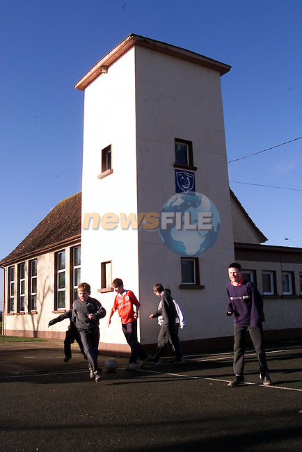 Children playing at Mount Hanover school outside Drogheda..Picture:Newsfile