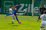 13.07.2019, Parkstadion, Zell am Ziller, AUT, FSP, Werder Bremen vs. Darmstadt 98<br /> <br /> im Bild / picture shows <br /> <br /> Milot Rashica (Werder Bremen #07) <br /> Florian Stritzel (Darmstadt 98 #31)<br /> Immanuel Höhn / Immanuel Hoehn (Darmstadt 98 #21)<br /> Foto © nordphoto / Kokenge