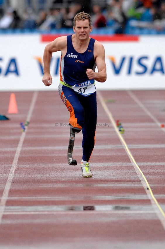 Photo: Richard Lane..VISA Paralympic World Cup 2007. Athletics. 13/05/2007. .Jacco Middelveldt of Netherlands in the men's F44 long jump.