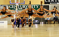 Big Air cheerleaders entertain the crowd during the NBL match between the Wellington Saints and Christchurch Cougars at Te Rauparaha Stadium, Porirua, Wellington, New Zealand on Saturday 4 April 2009. Photo: Dave Lintott / lintottphoto.co.nz