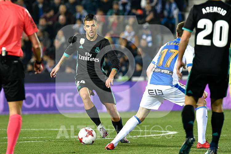Leganes vs Real Madrid Dani Ceballos during Copa del Rey  match. A quarter of final go. 20180118.