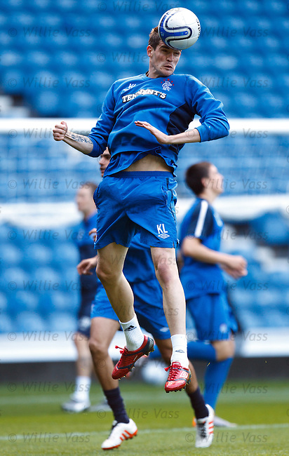 Kyle Lafferty leaps into the air