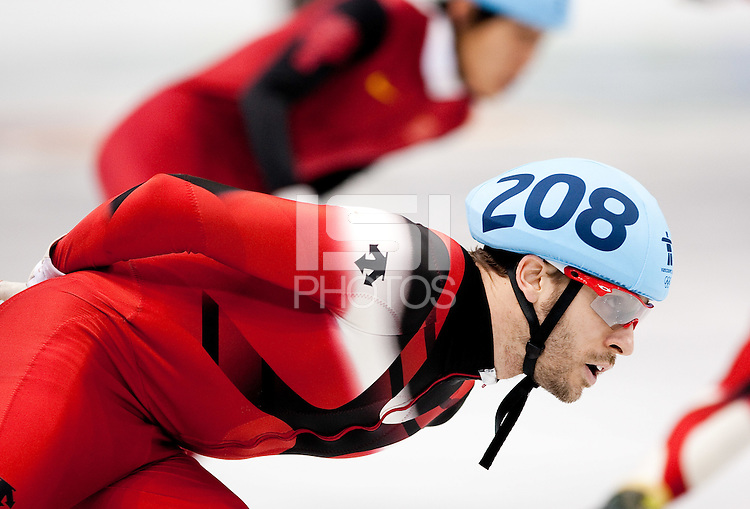 VANCOUVER, CANADA--Men's Short Track 5000m relay, Pacific Coliseum. .