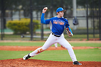 Harrison Feinberg (9) of Greenwich, Connecticut during the Baseball Factory All-America Pre-Season Rookie Tournament, powered by Under Armour, on January 13, 2018 at Lake Myrtle Sports Complex in Auburndale, Florida.  (Michael Johnson/Four Seam Images)