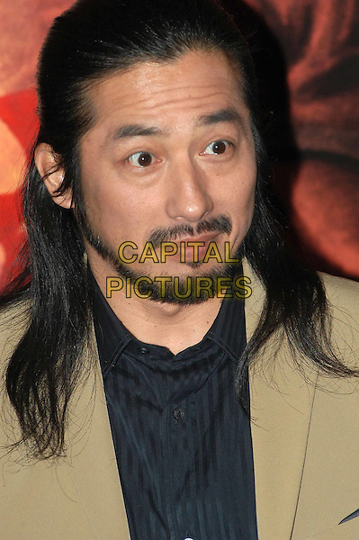 HIROYUKI SANADA.The Last Samurai Italian premiere, Rome.*Not for sale in Italy*.7 January 2004.headshot, portrait, beard.www.capitalpictures.com.sales@capitalpictures.com.©Capital Pictures