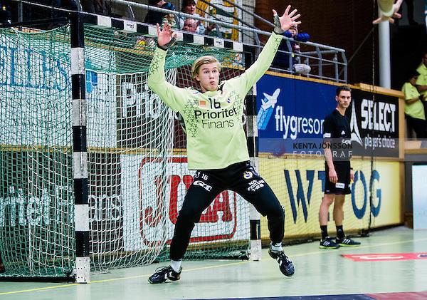 Stockholm 2014-02-02 Handboll Elitserien Hammarby IF - Redbergslids IK :  <br /> Redbergslids m&aring;lvakt Tobias Thulin i aktion <br /> (Foto: Kenta J&ouml;nsson) Nyckelord:  portr&auml;tt portrait