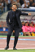 12th September 2017, Stadio Olimpic, Rome, Italy; UEFA Champions League between AS Roma versus Club Atletico de Madrid  Eusebio Di Francesco  ; the game ended on a 0-0 draw