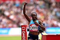 Hellen Obiri of Kenya after competing in the womenís one mile during the Muller Anniversary Games at The London Stadium on 9th July 2017