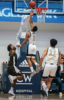 WASHINGTON, DC - JANUARY 5: Armel Potter #2 of George Washington goes up for a basket during a game between St. Bonaventure University and George Washington University at Charles E Smith Center on January 5, 2020 in Washington, DC.
