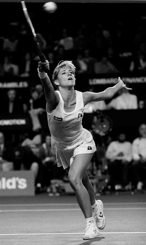 Photo. Steve Holland.1982.Chris Evert Lloyd