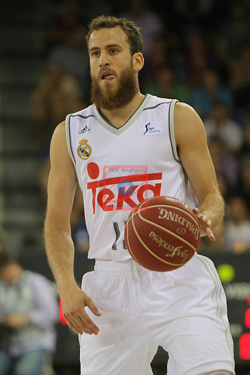 League ACB-ENDESA 2015/2016. <br /> Play-Off Final - Game 2.<br /> FC Barcelona Lassa vs Real Madrid: 70-90.<br /> Sergio Rodriguez.