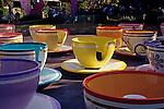 Disneyland rides Mad Tea Party ride Anaheim California USA