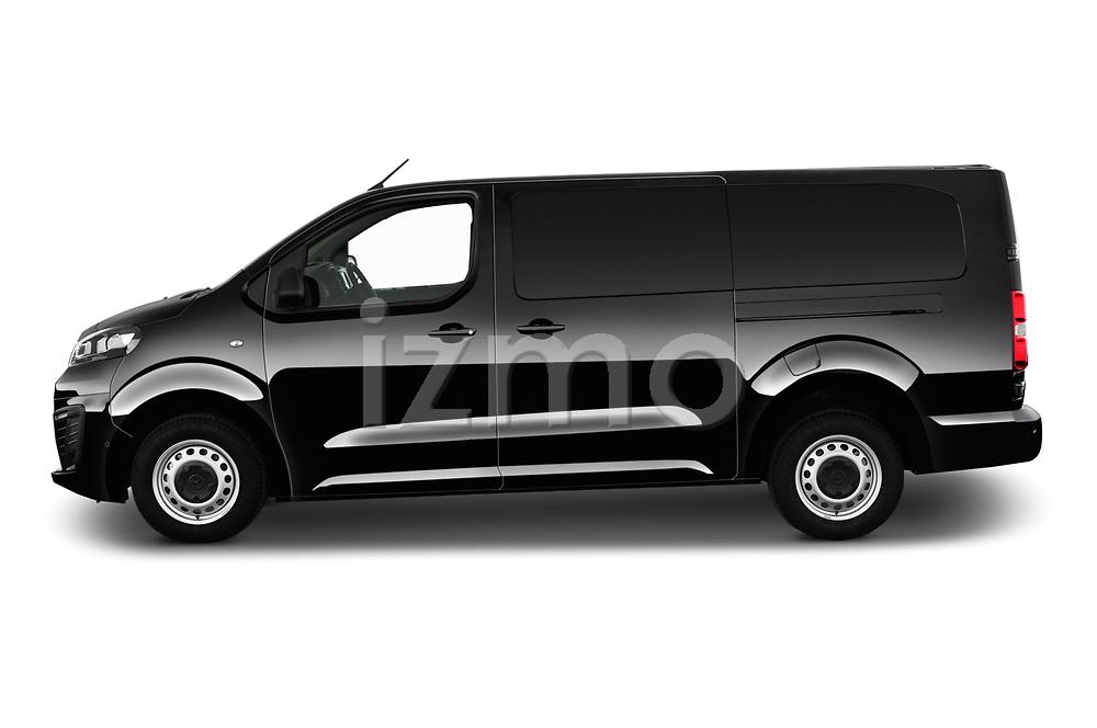 Car driver side profile view of a 2020 Opel Vivaro Innovation 4 Door Cargo Van