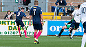 Morton's Decaln McManus (9) scores their first goal.
