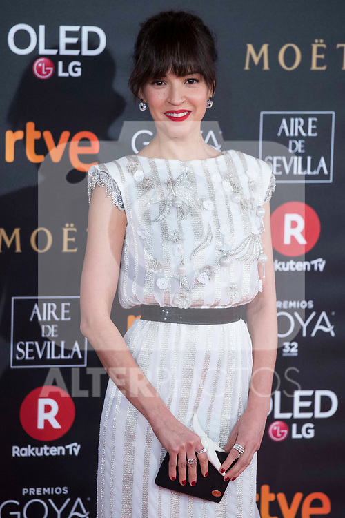 Veronica Sanchez attends red carpet of Goya Cinema Awards 2018 at Madrid Marriott Auditorium in Madrid , Spain. February 03, 2018. (ALTERPHOTOS/Borja B.Hojas)