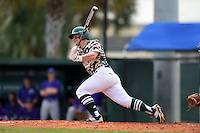 Slippery Rock Jordan Faretta (11) during a game against the Kentucky Wesleyan Panthers on March 9, 2015 at Jack Russell Stadium in Clearwater, Florida.  Kentucky Wesleyan defeated Slippery Rock 5-4.  (Mike Janes/Four Seam Images)