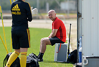 20180303 - LARNACA , CYPRUS :  Belgian teammanager Rudy Vanderelst pictured during a Matchday -2 training from The Belgian Red Flames prior to their game against Austria , on Saturday 3 March 2018 at the Alpha Sports Grounds in Larnaca , Cyprus . This will be the third game in group B for Belgium during the Cyprus Womens Cup , a prestigious women soccer tournament as a preparation on the World Cup 2019 qualification duels. PHOTO SPORTPIX.BE | DAVID CATRY